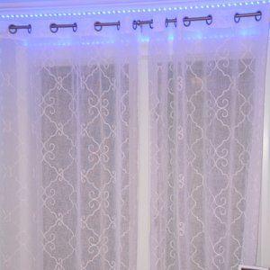 """White curtains 54""""x84"""""""